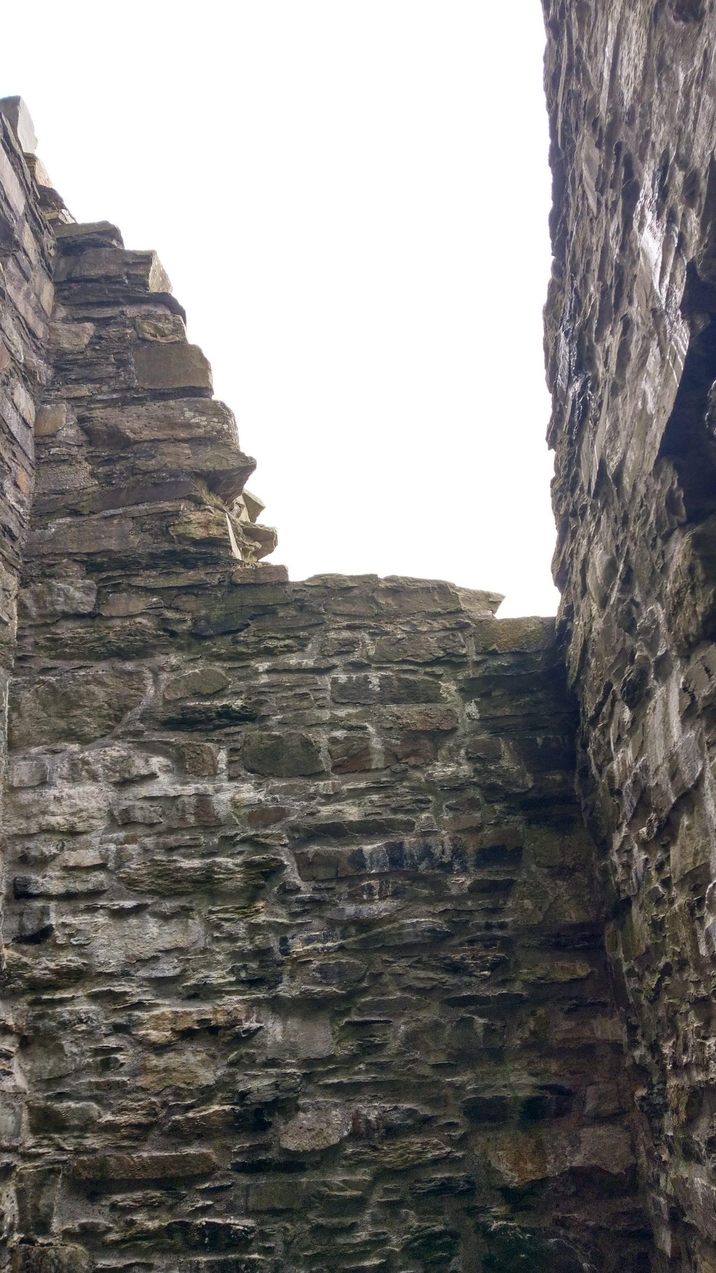 Castle Donovan Irland, Blick gen Himmel